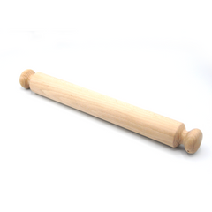 WOODEN ROLLING PIN CARVED HANDLE