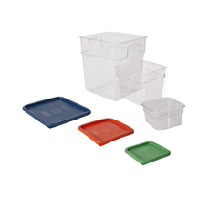 CLEAR POLYCARB STORAGE & LIDS