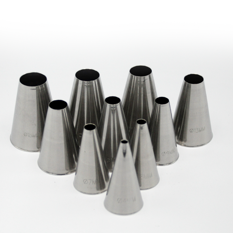TUBE SET  LARGE METAL S/S 10 SIZES*PLAIN
