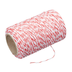 STRING/TRUSSING TWINE RED/WH * 60M ROLL