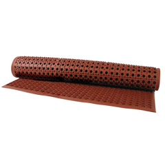 FLOOR MAT  RUBBER RUST 1510 X 910MM