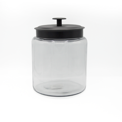 JAR  ROUND BLACK METAL LID 5.7L CAP