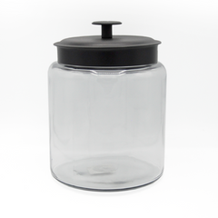 JAR  ROUND BLACK METAL LID 7.5L