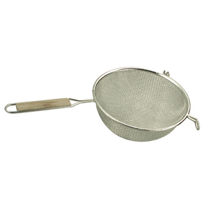 STAINLESS SIEVE WOODEN HANDLE