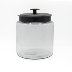 JAR  ROUND BLACK METAL LID 2.9L CAP