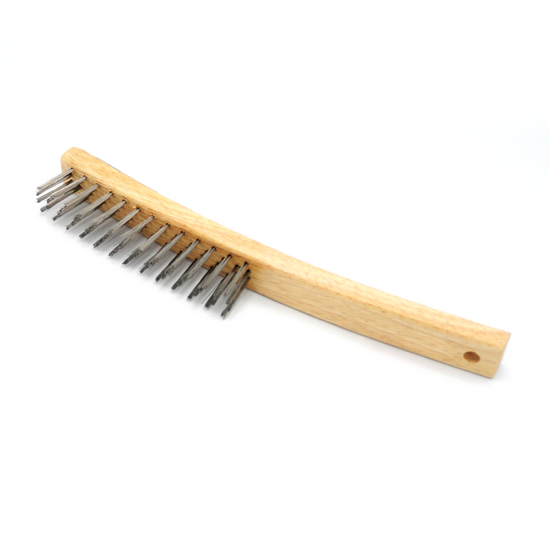 GRILL  BRUSH  STEEL  LONG HANDLE