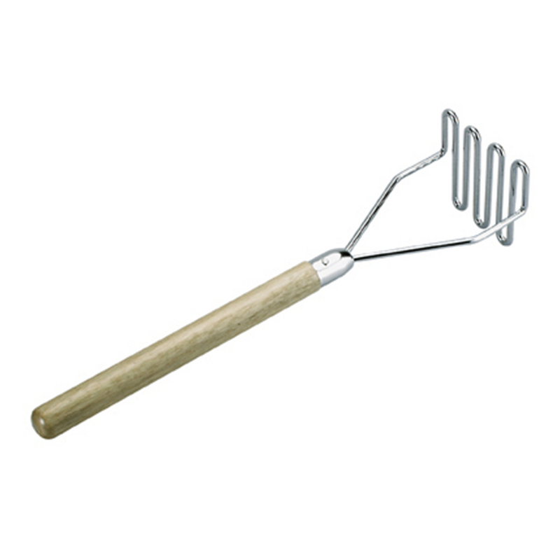 POTATO MASHER  S/S WOODEN HDL