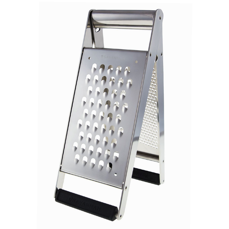 GRATER TOWER SS FOLDING ZEST/FINE/COARSE