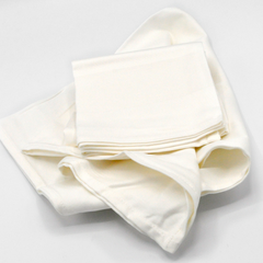 NAPKIN COTTON WHITE.SATIN BAND 560MM SQ