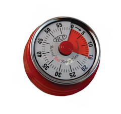 TIMER MECHANICAL 60 MINUTE RED  MAGNETIC