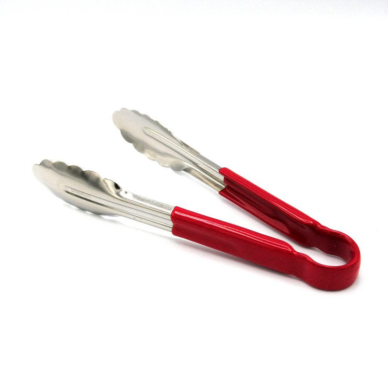 KITCHEN TONGS  COLOURED HANDLES  25CM