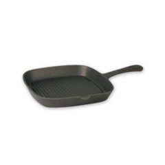 FRYPAN CAST IRON SQUARE RIBBED 220MM