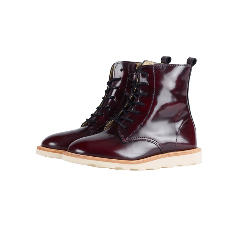 young soles rodney derby boot - oxblood - freddie the rat kids boutique