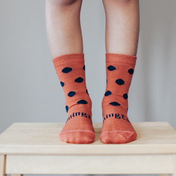 lamington merino wool crew socks - cobble - freddie the rat kids boutique