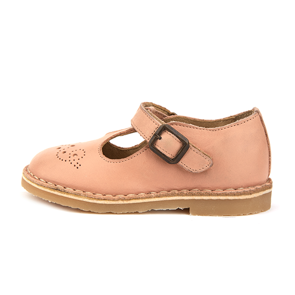 young soles penny t-bar - nude pink leather - freddie the rat kids boutique