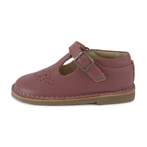 young soles penny t-bar - mulberry leather - freddie the rat kids boutique