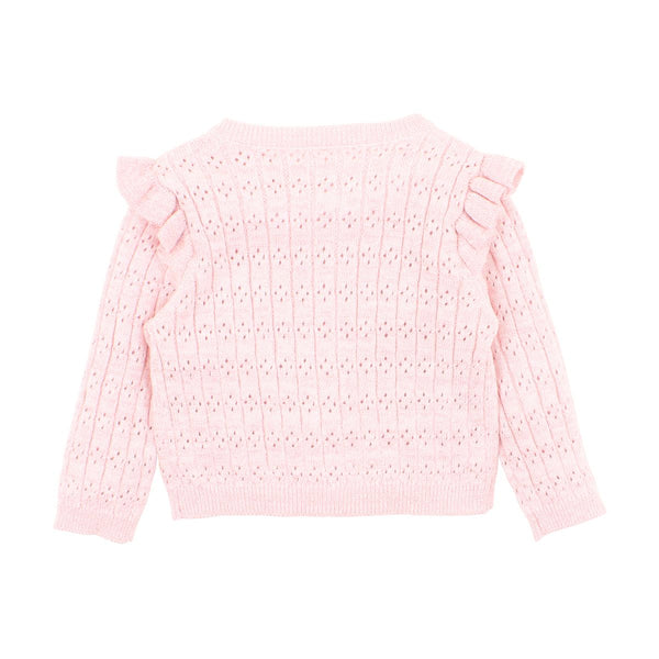 fox + finch frill cardigan - pink - freddie the rat kids boutique