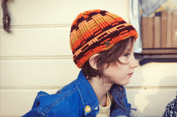 fallenBROKENstreet transend beanie - autumn stripes - freddie the rat kids boutique