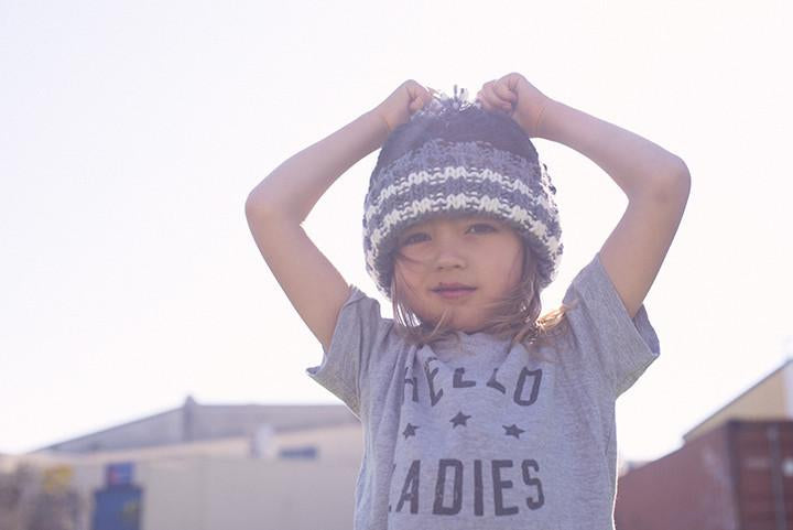 fallenBROKENstreet kids icecreamy dreams beanie - pink grey - freddie the rat kids boutique