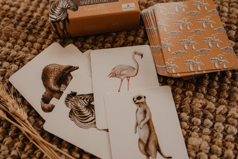 africa snap + go fish - modern monty - freddie the rat kids boutique