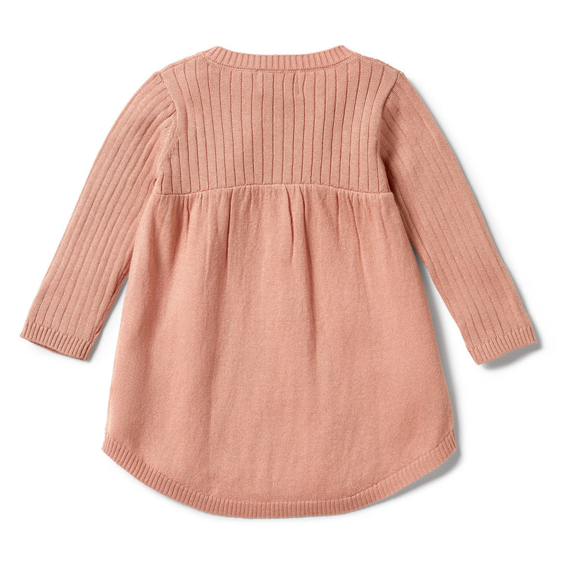 wilson + frenchy knitted rib dress - dusk fleck - freddie the rat kids boutique