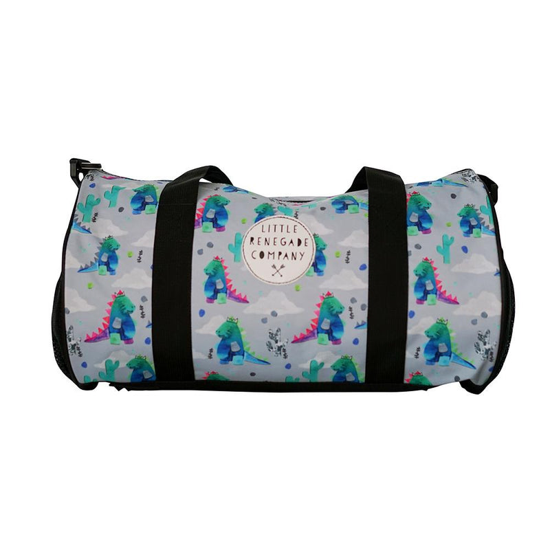 little renegade company - dinoroar duffle bag - freddie the rat kids boutique