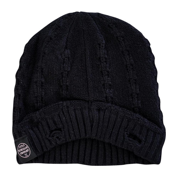 little renegade company everest beanie - black - freddie the rat kids boutique