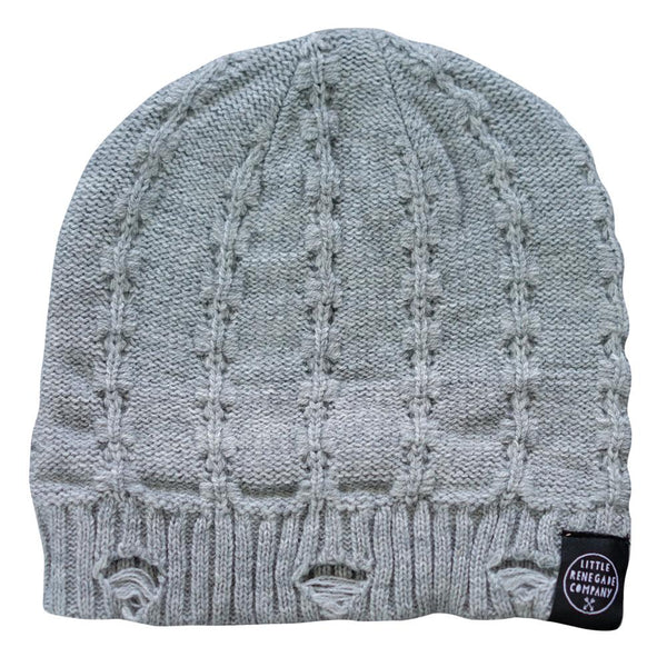 little renegade company everest beanie - grey - freddie the rat kids boutique