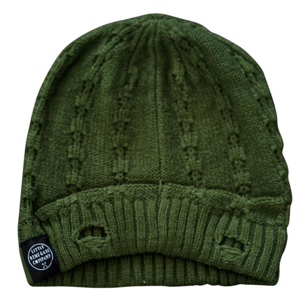 little renegade company everest beanie - olive - freddie the rat kids boutique