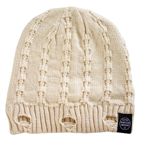 little renegade company everest beanie - off white - freddie the rat kids boutique