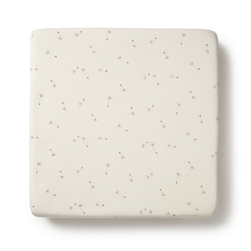 wilson + frenchy organic bassinet sheet set - floating dandelions - freddie the rat kids boutique