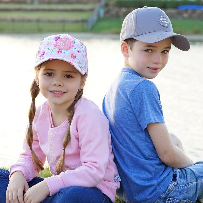little renegade company - garden baseball cap - freddie the rat kids boutique
