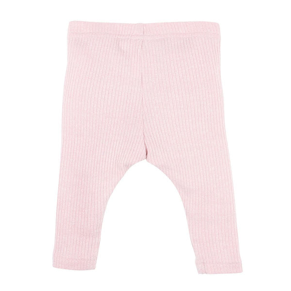 bebe pink rib leggings - dusky pink - freddie the rat kids boutique