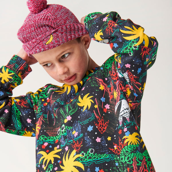 PRE ORDER kip & co very berry speckles rib knitted beanie - freddie the rat kids boutique