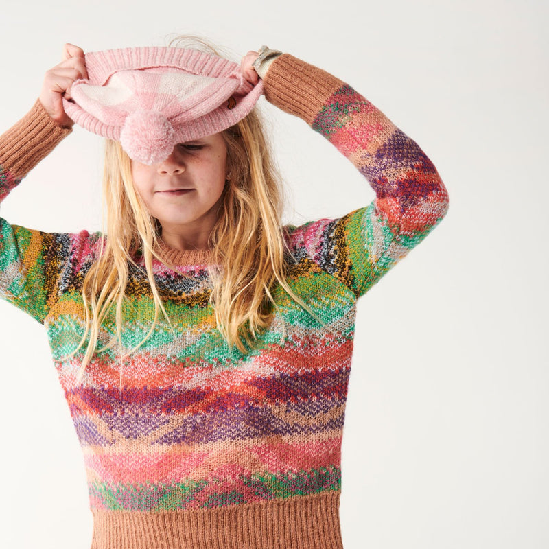 PRE ORDER kip & co ripple rum knit sweater - freddie the rat kids boutique