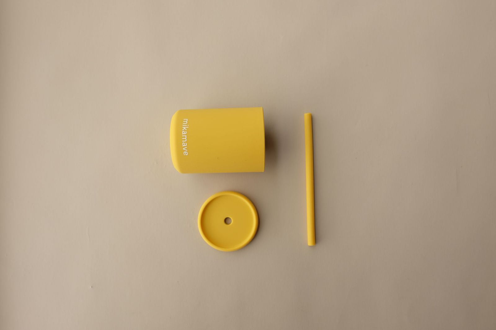 mika mave silicone cup set - mustard - freddie the rat kids boutique