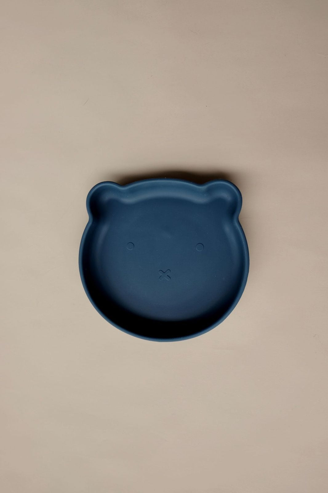 mika mave bear suction plate - navy - freddie the rat kids boutique