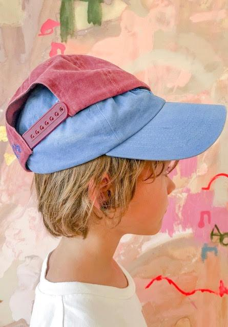 bocub party bear cap - washed maroon - freddie the rat kids boutique