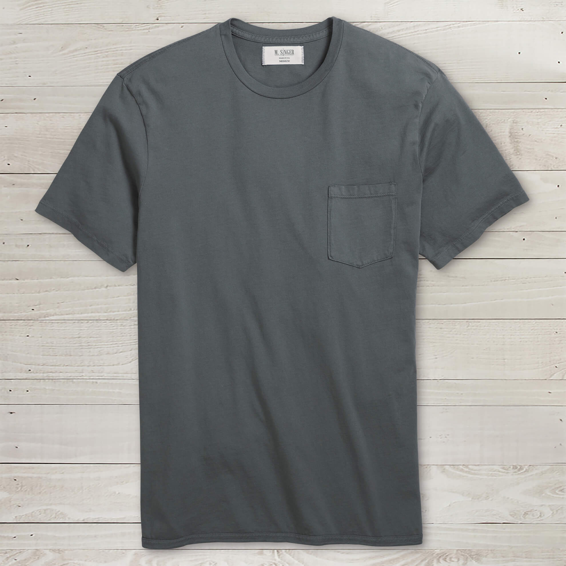 Garment-Dyed Short-Sleeve Pocket Tee