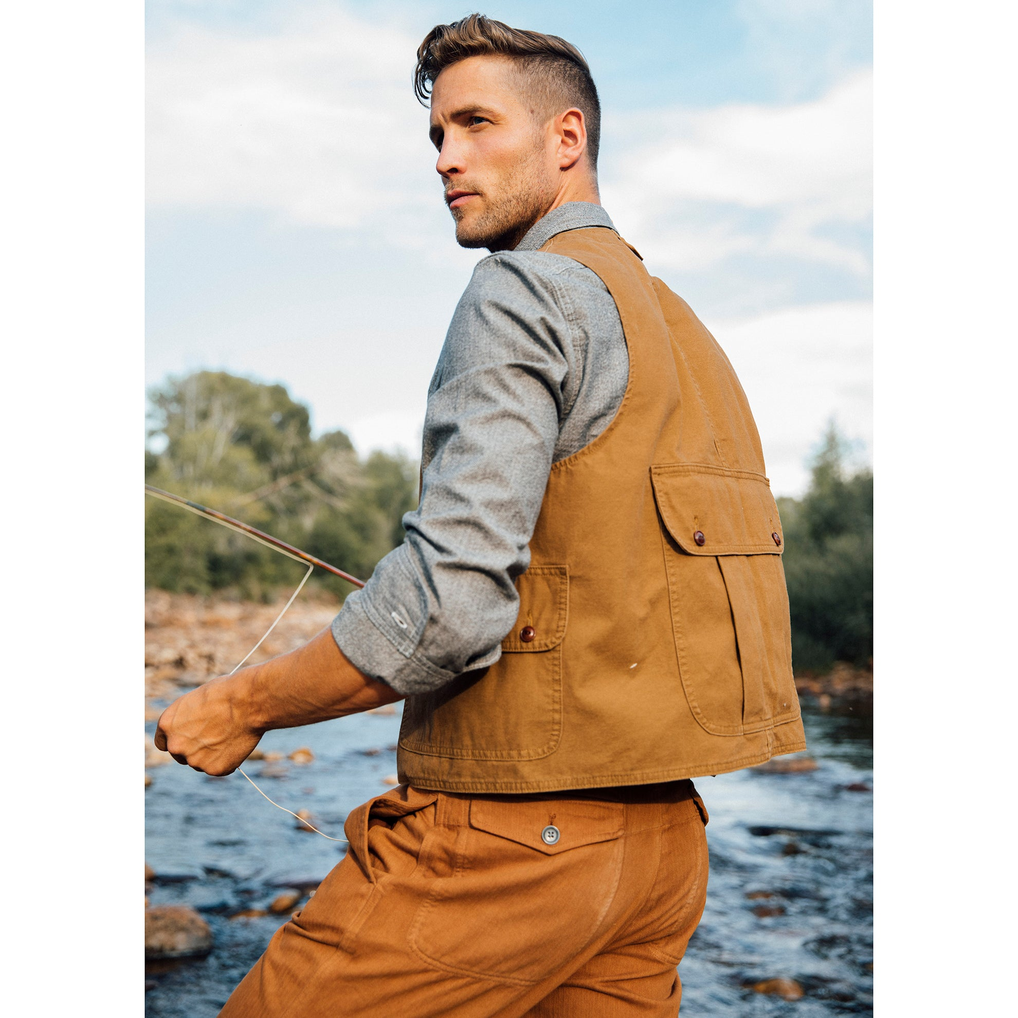 Canvas Trapper Vest