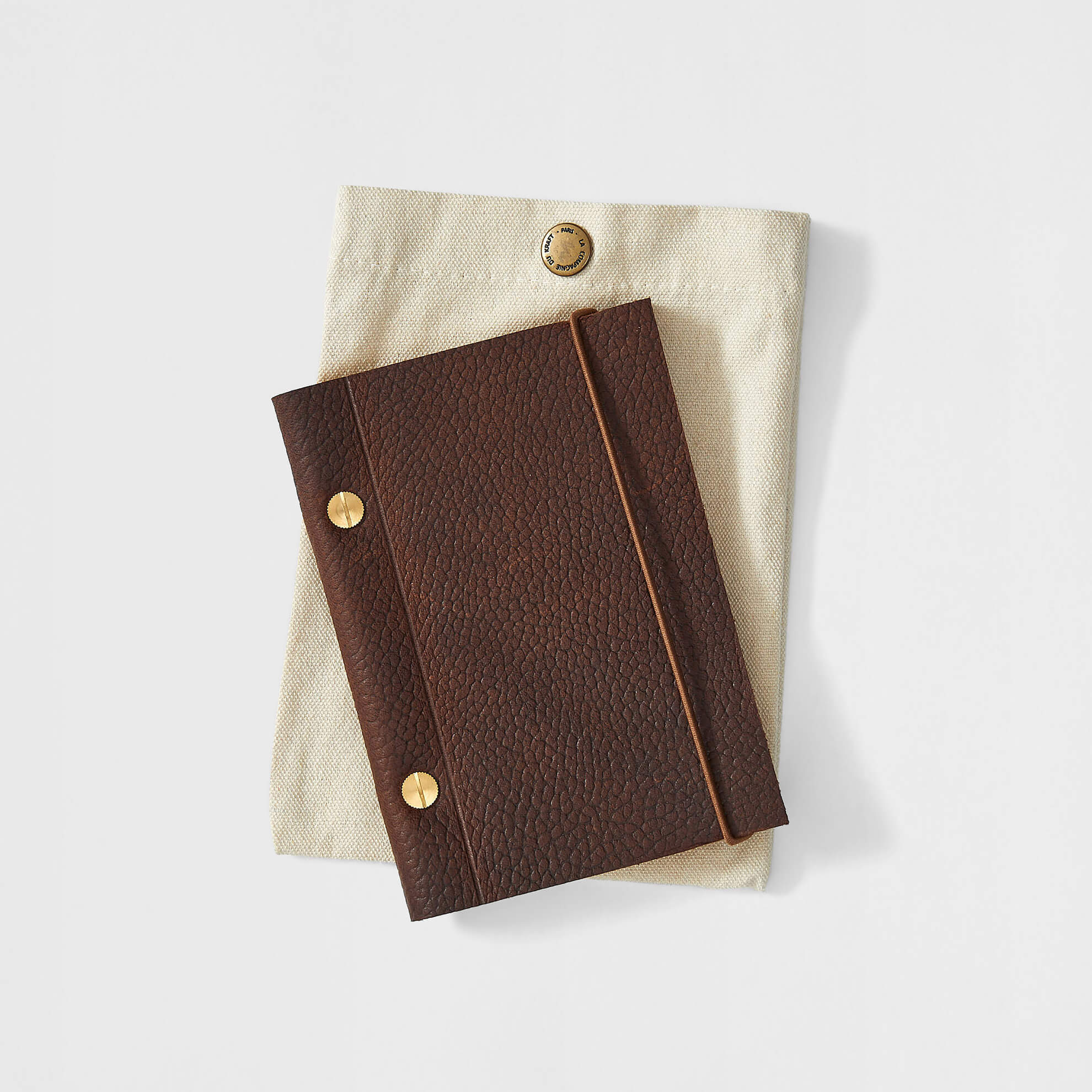 Small French Leather Notebook