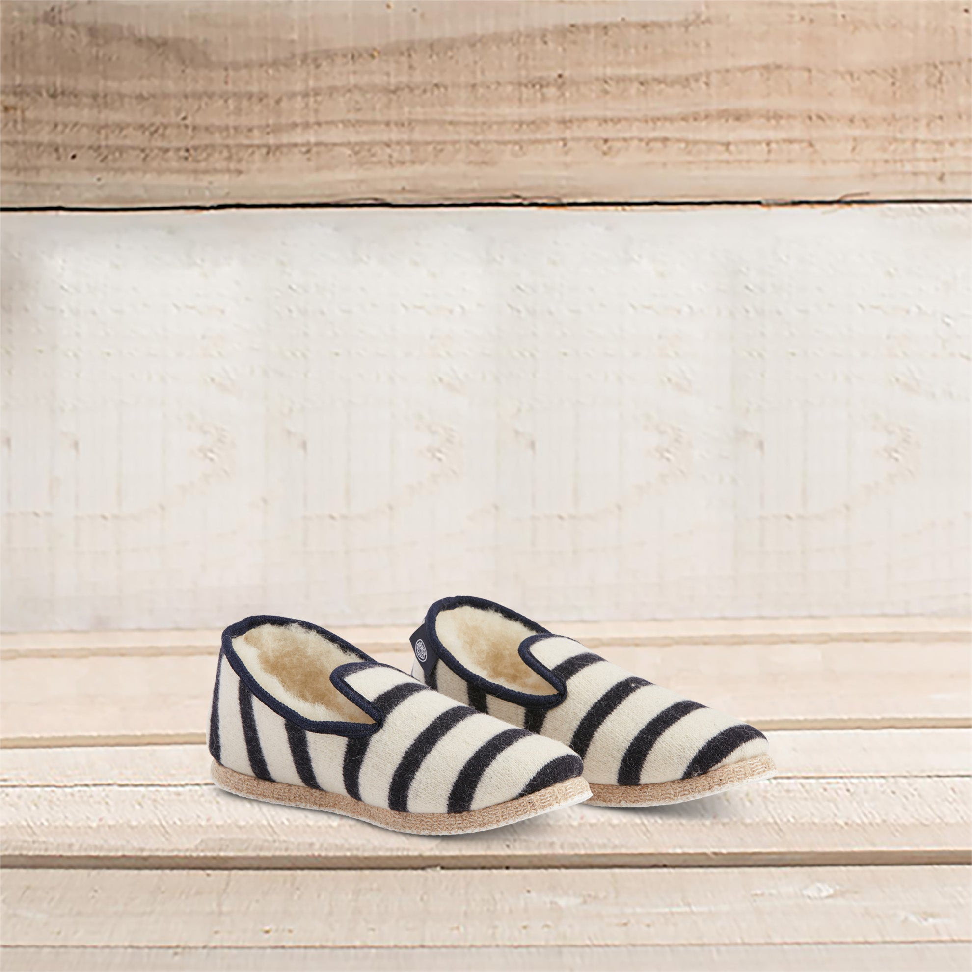 Striped Wool Slippers