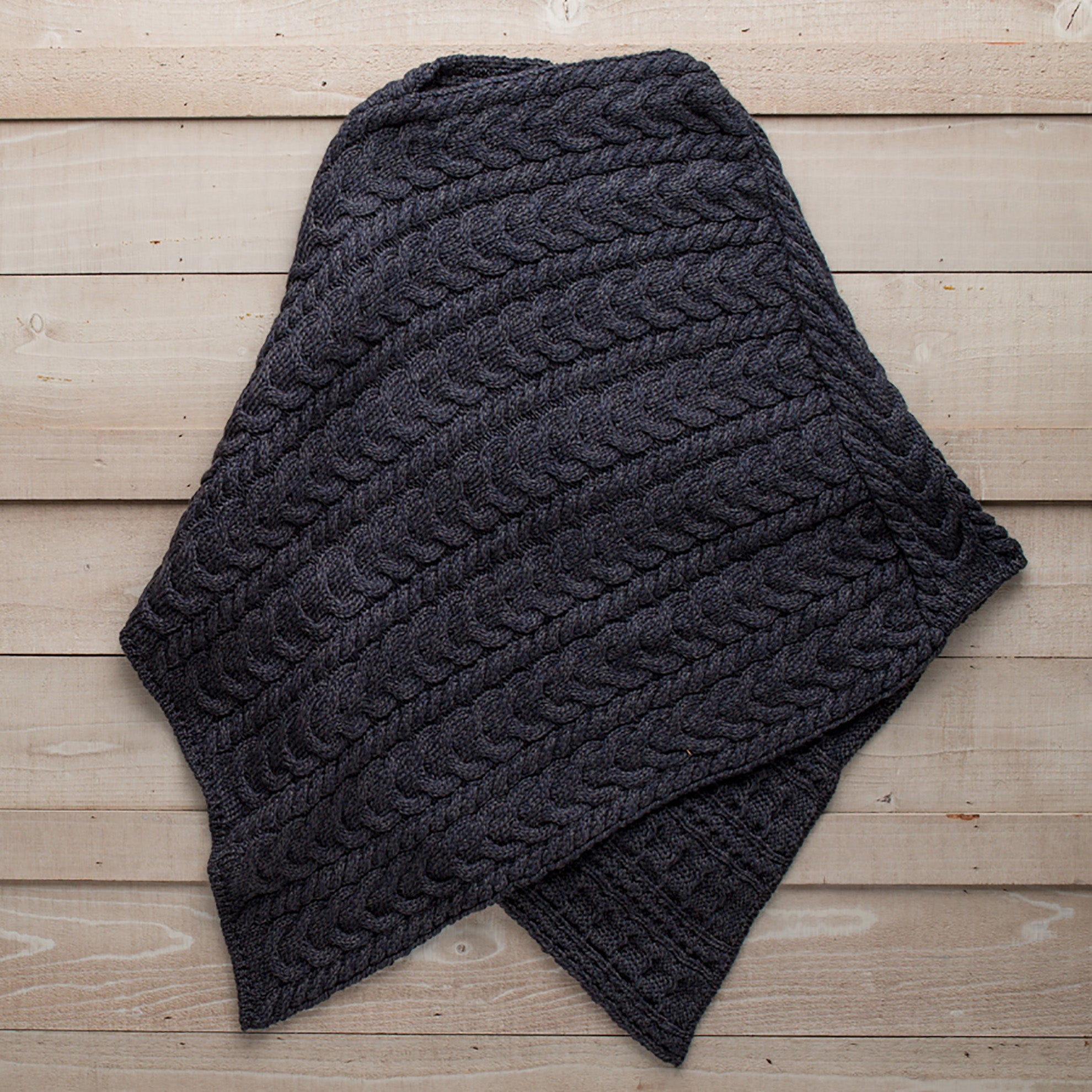 Irish Cable Knit Poncho