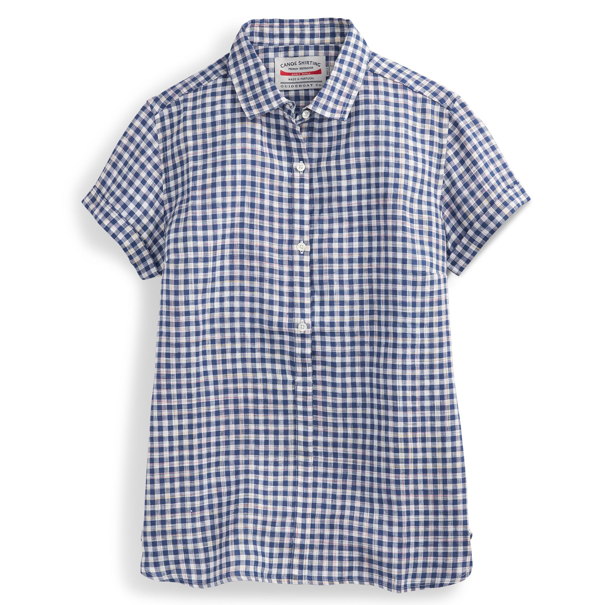 Short Sleeve Gingham Popover