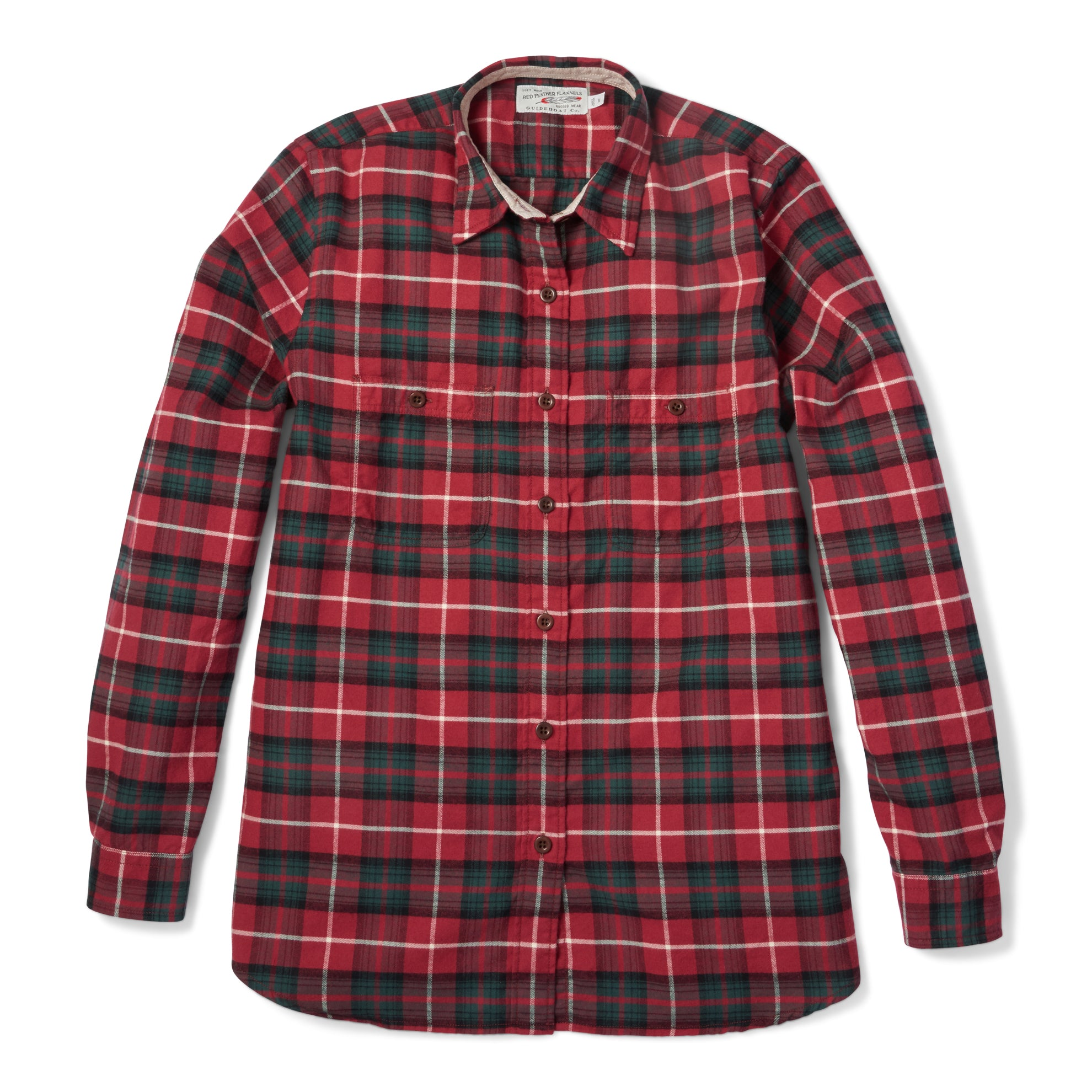 Women's Red Feather Flannel
