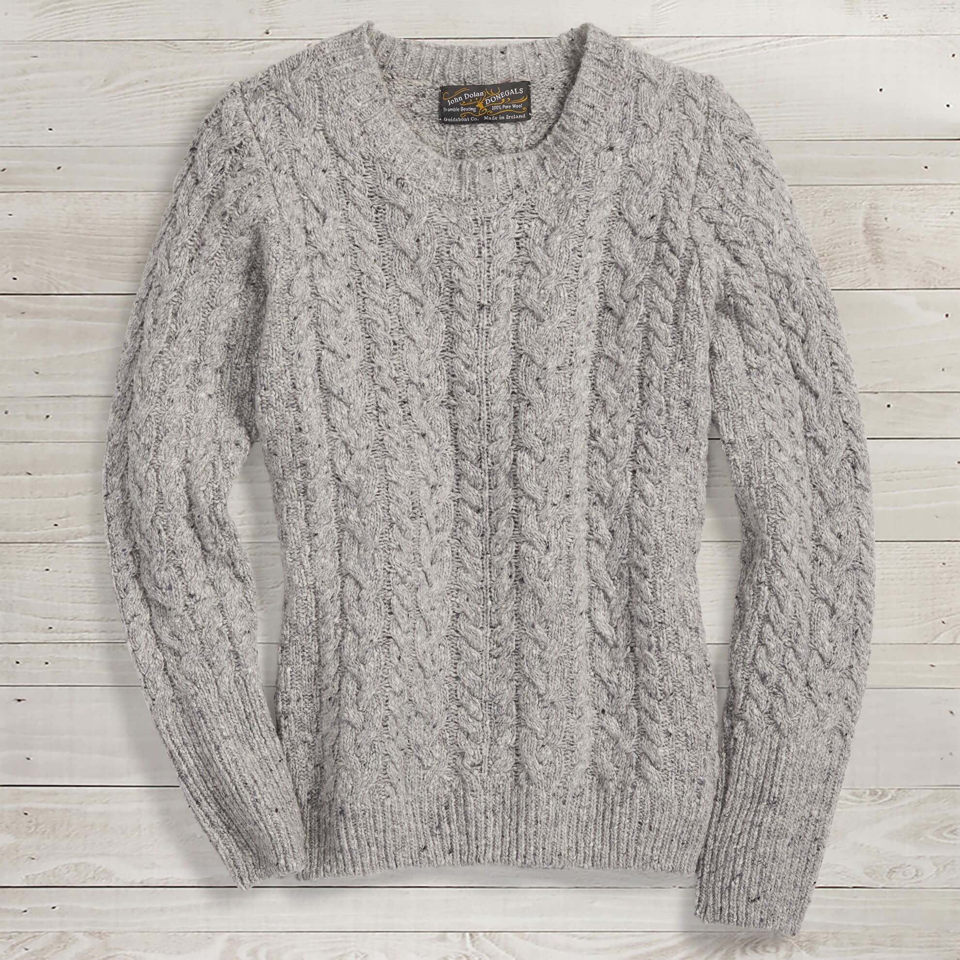 Donegal Cable-Knit Sweater