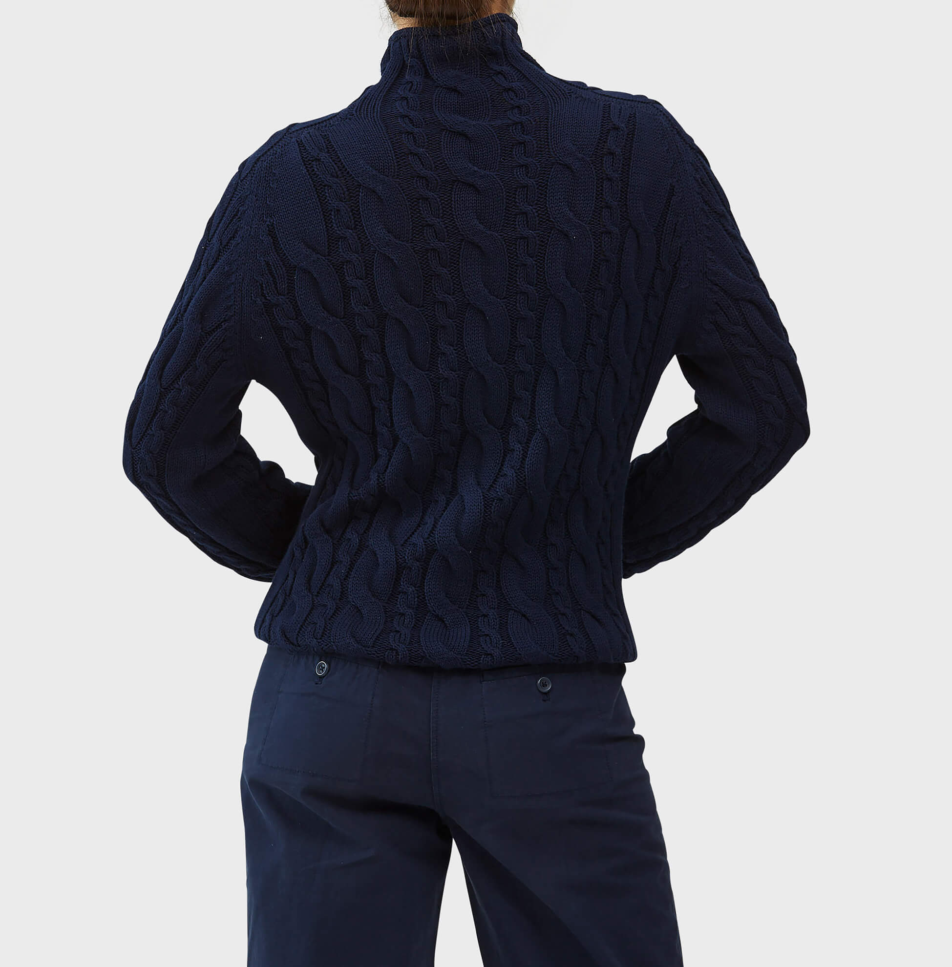 Cable Knit Rollneck Sweater