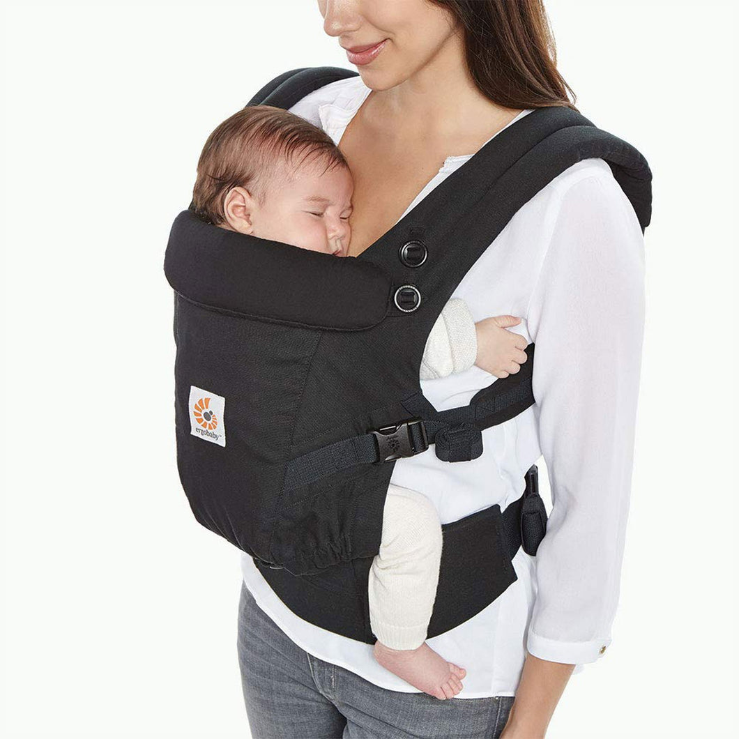 Ergobaby Adapt Infant To Toddler Carrier Premium Cotton - Black - SSStyleN.com