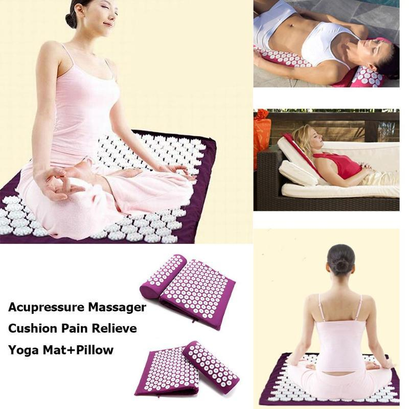 Yoga Cushion Massage Acupressure Mat - Relieve Stress Back & Body Pain - SSStyleN.com
