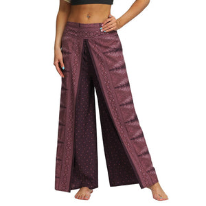Wide Leg Sport Pants Women Casual Summer Loose Yoga Trousers Baggy Boho Jumpsuit Pants Workout Fitness Gym Clothing Mujer - SSStyleN.com